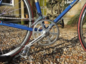 Spécialités TA custom compact double chainset with 50 and 34-tooth chainrings