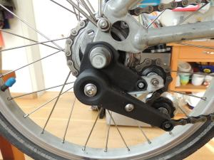 There's not room to fit a sprocket with more than 20 teeth, and you can only get that one in a flat version