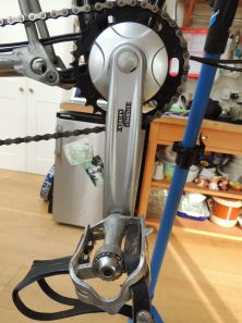 The Sturmey Archer FCS crank - cheap, ugly and no way to change the chainring